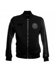 Черная куртка Givenchy с кожаными рукавами