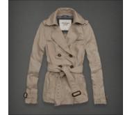 Укороченное бежевое женское пальто AF