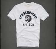 Белая мужская футболка от Abercrombie Fitch