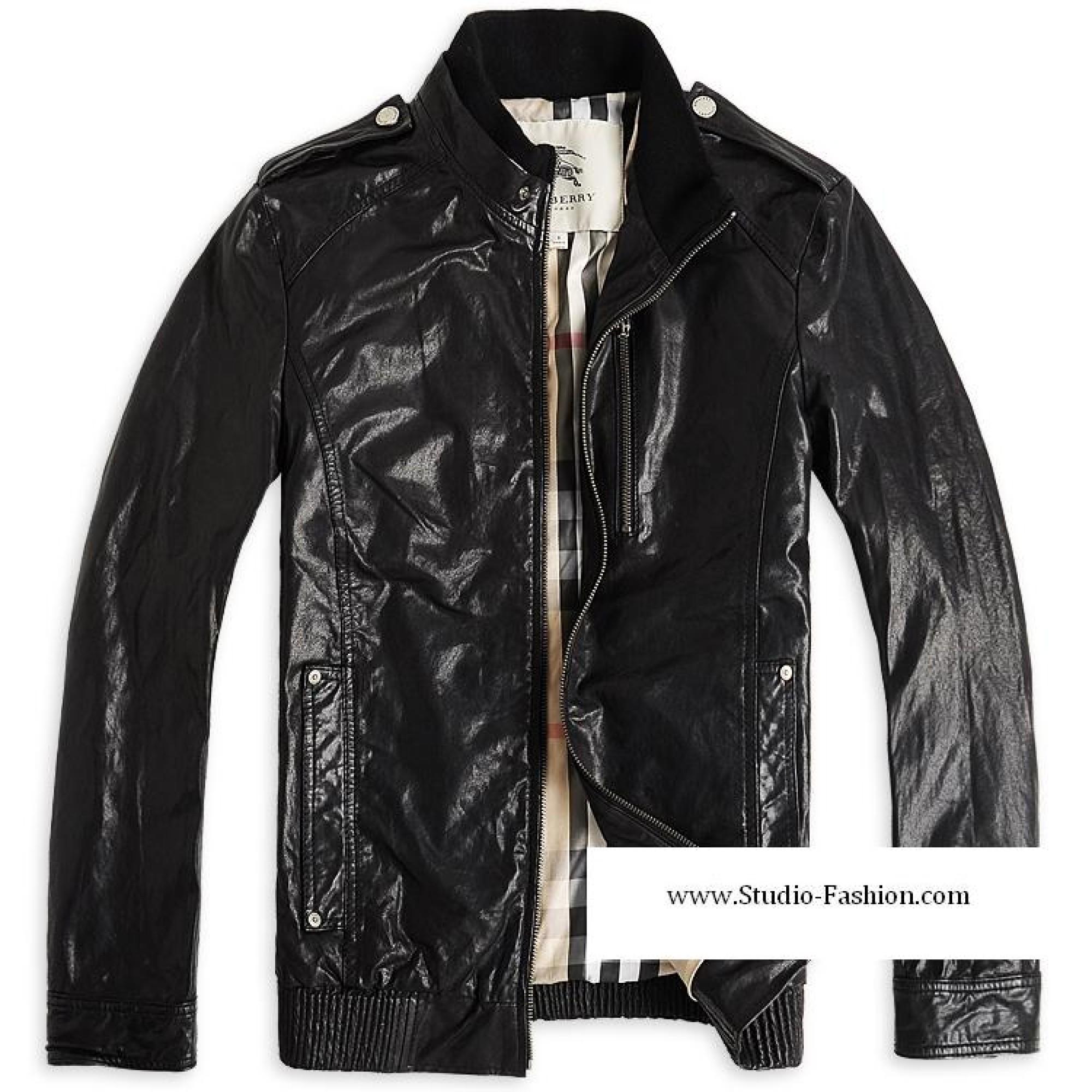 Купить мужская кожаная куртка burberry — в Киеве, код товара 1321 dcce47fde4a