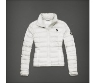 Белая стеганая зимняя куртка Abercrombie fitch