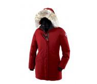 Красный теплый пуховик Canada Goose