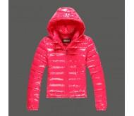 Розовая зимняя куртка Abercrombie fitch