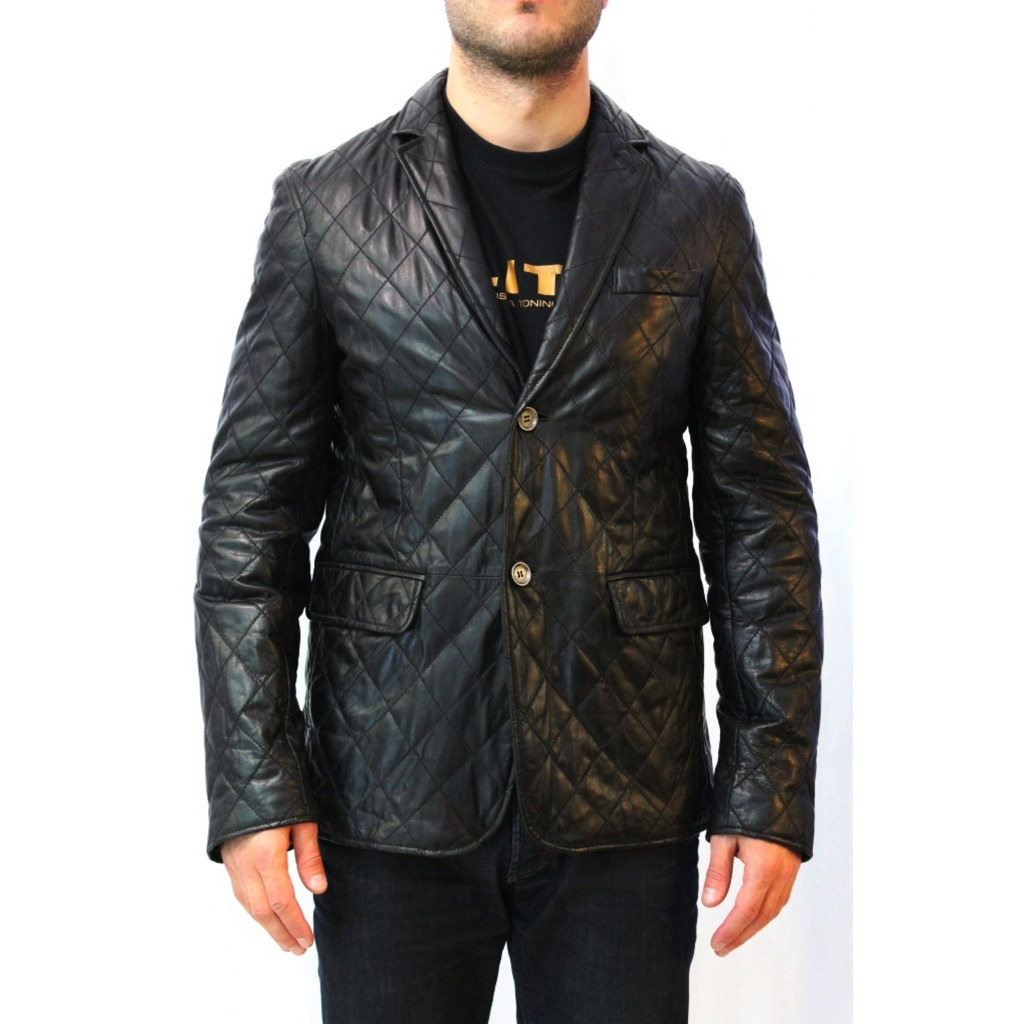 009caafae1c Купить мужская кожаная куртка-пиджак от Burberry — в Киеве