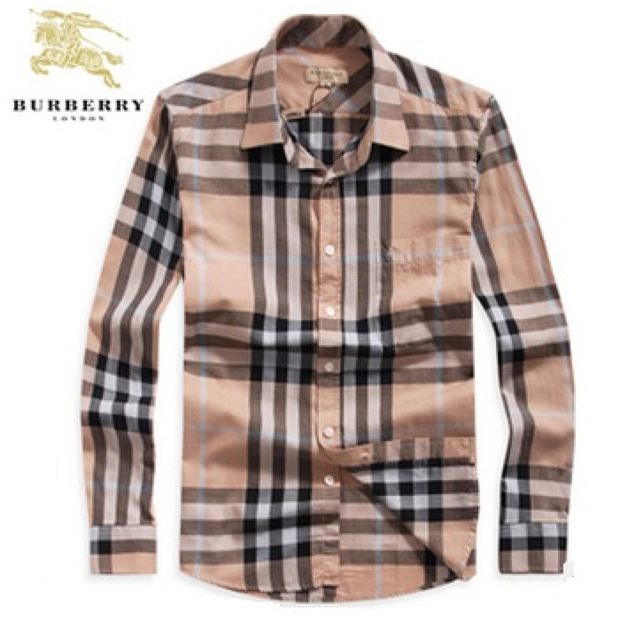 Купить мужская рубашка бежевая от Burberry — в Киеве, код товара 7339 5c063e6fffd