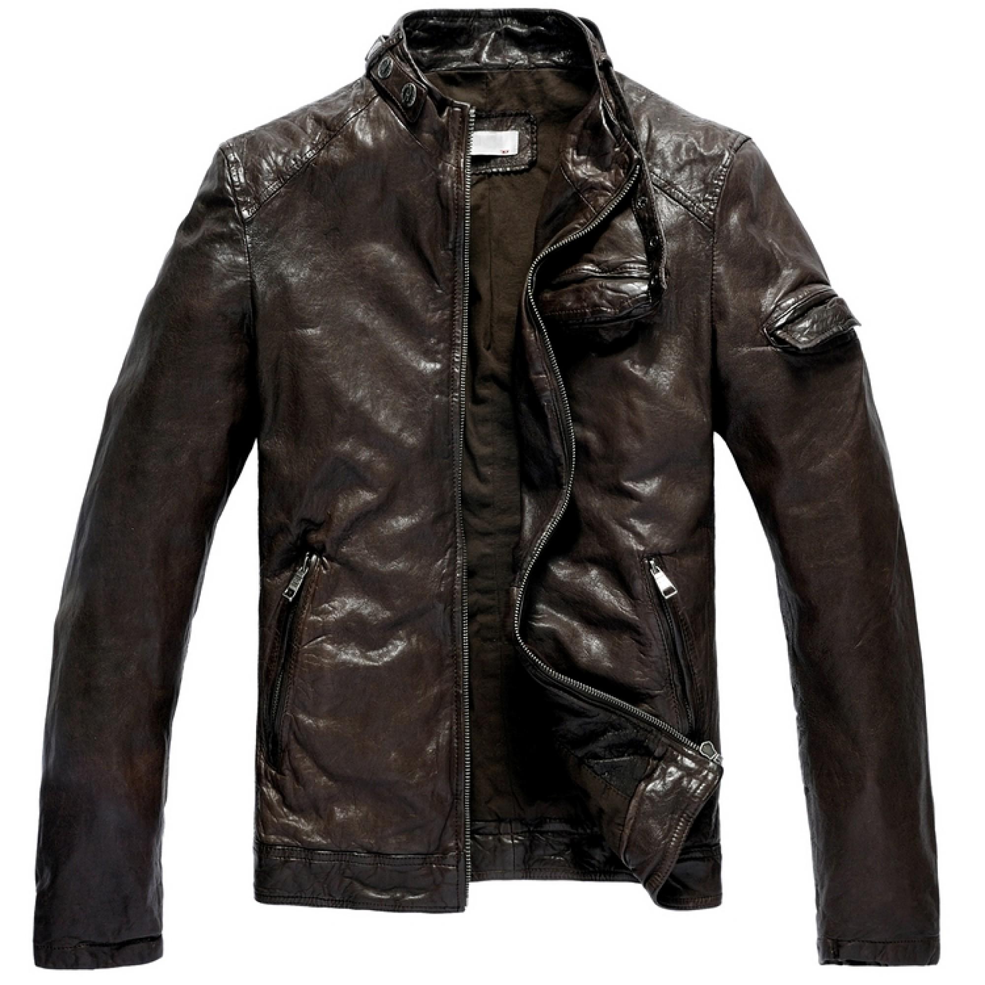 362f7a99a08 Купить коричневая кожаная куртка от Diesel — в Киеве