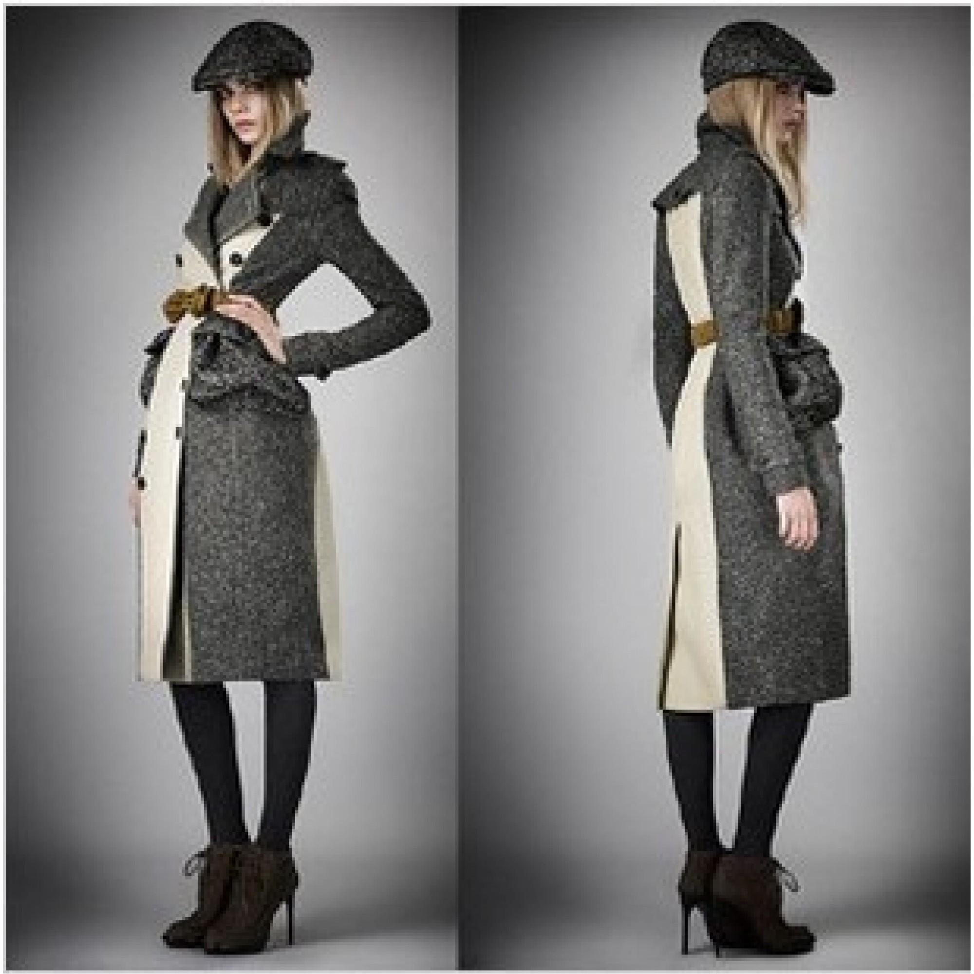 Купить серое женское пальто Burberry — в Киеве, код товара 7480 ec0db260833