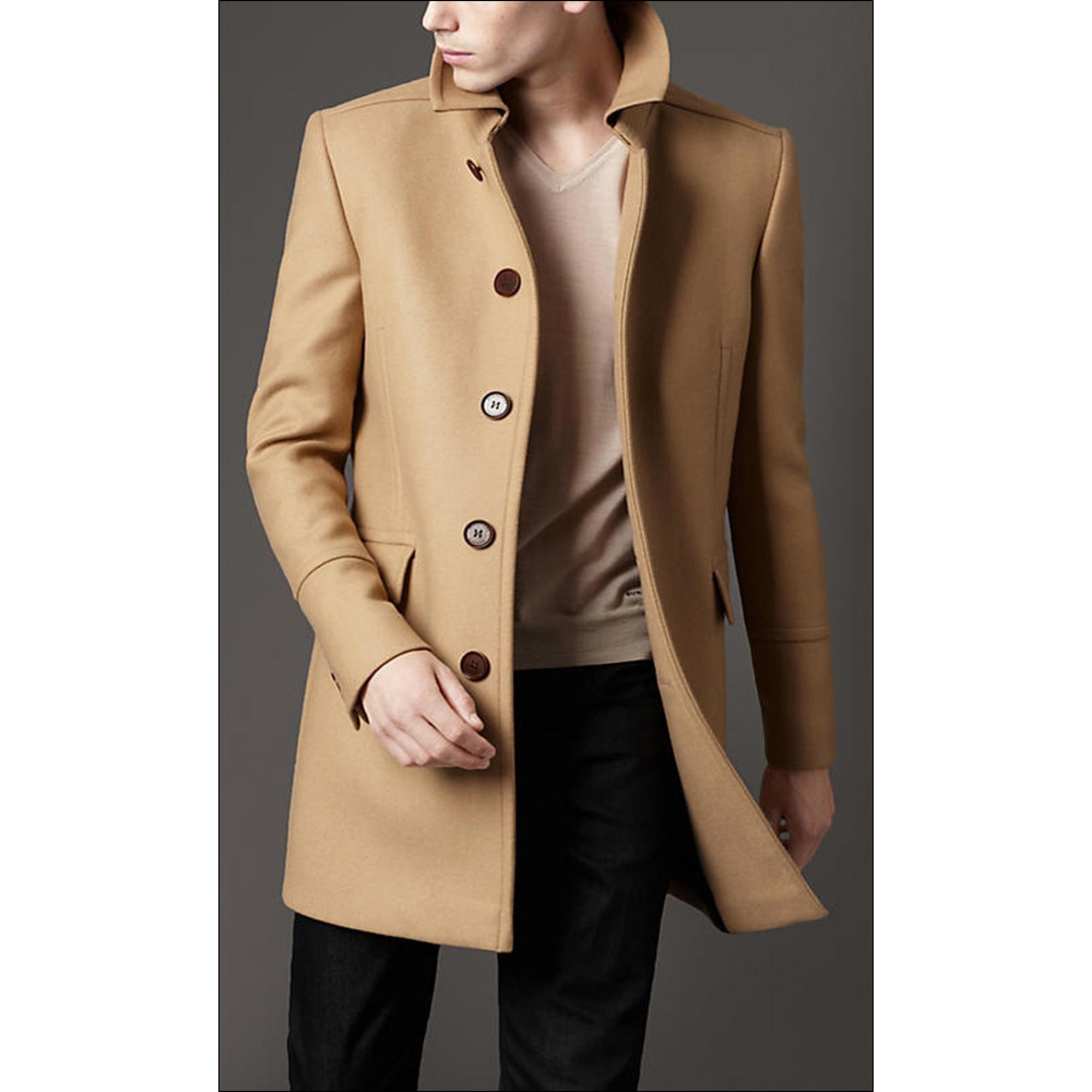 Купить бежевое мужское пальто burberry — в Киеве b92819bb8c3ce