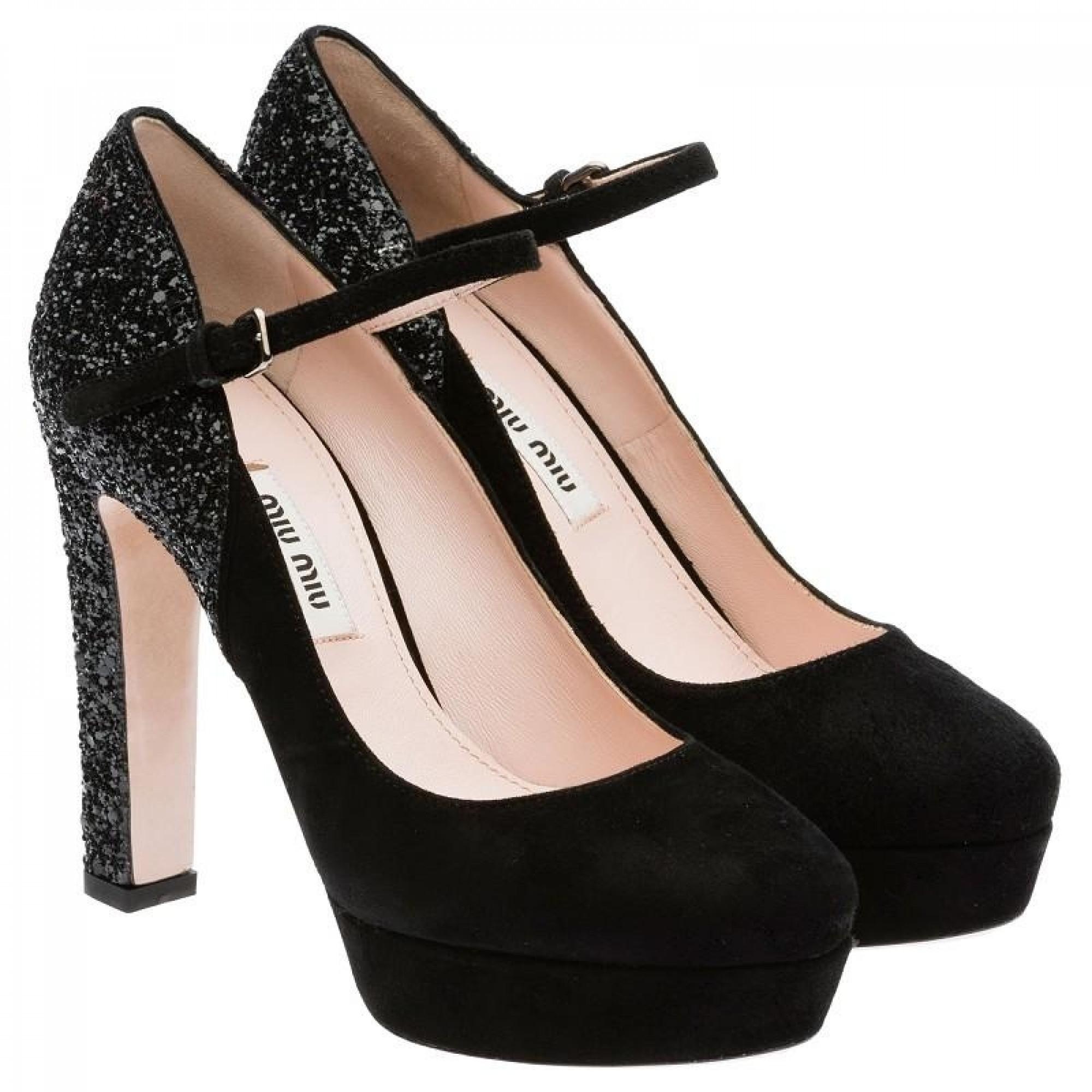 Купить черные туфли на высоком каблуке от Miu Miu 2017 — в Киеве ... 3181f08c382
