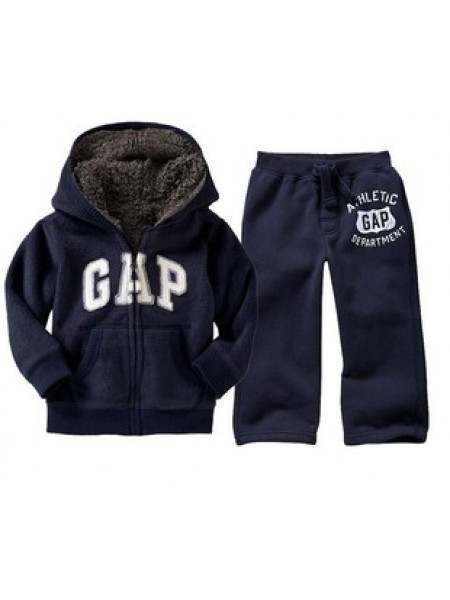 44199221a1de Синий теплый детский костюм от Gap