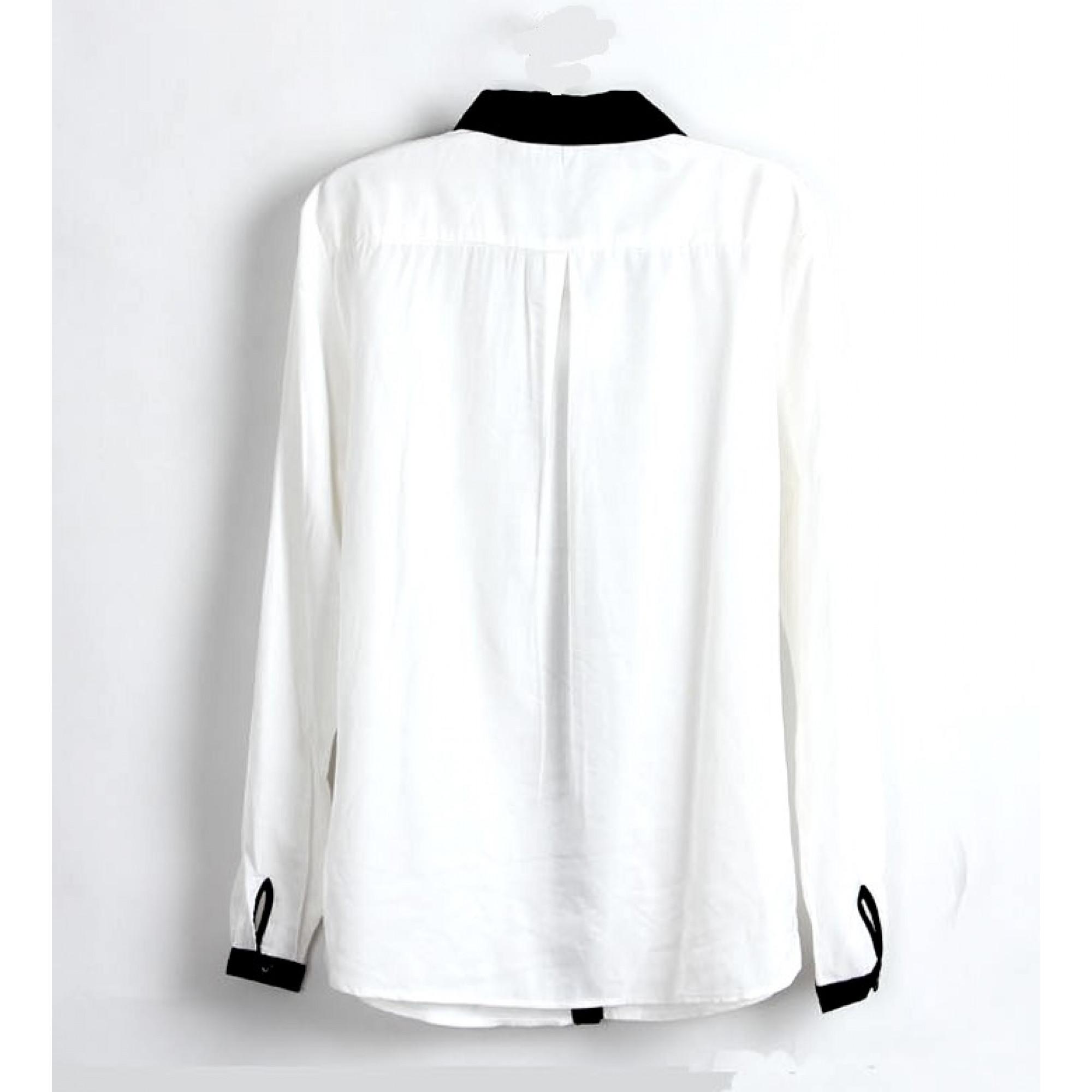 e25ee86edcc Купить белая рубашка с черным воротником — в Киеве