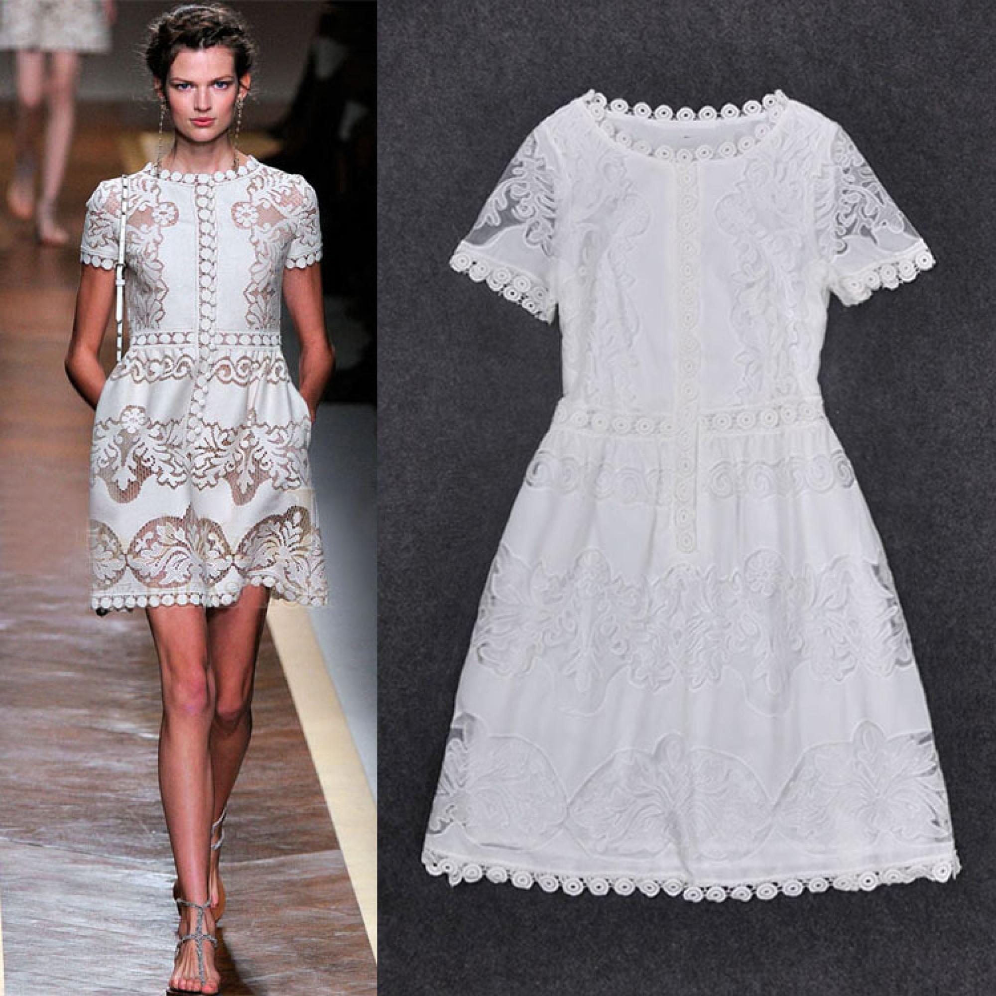 970178e24ac Купить белое короткое кружевное платье — в Киеве