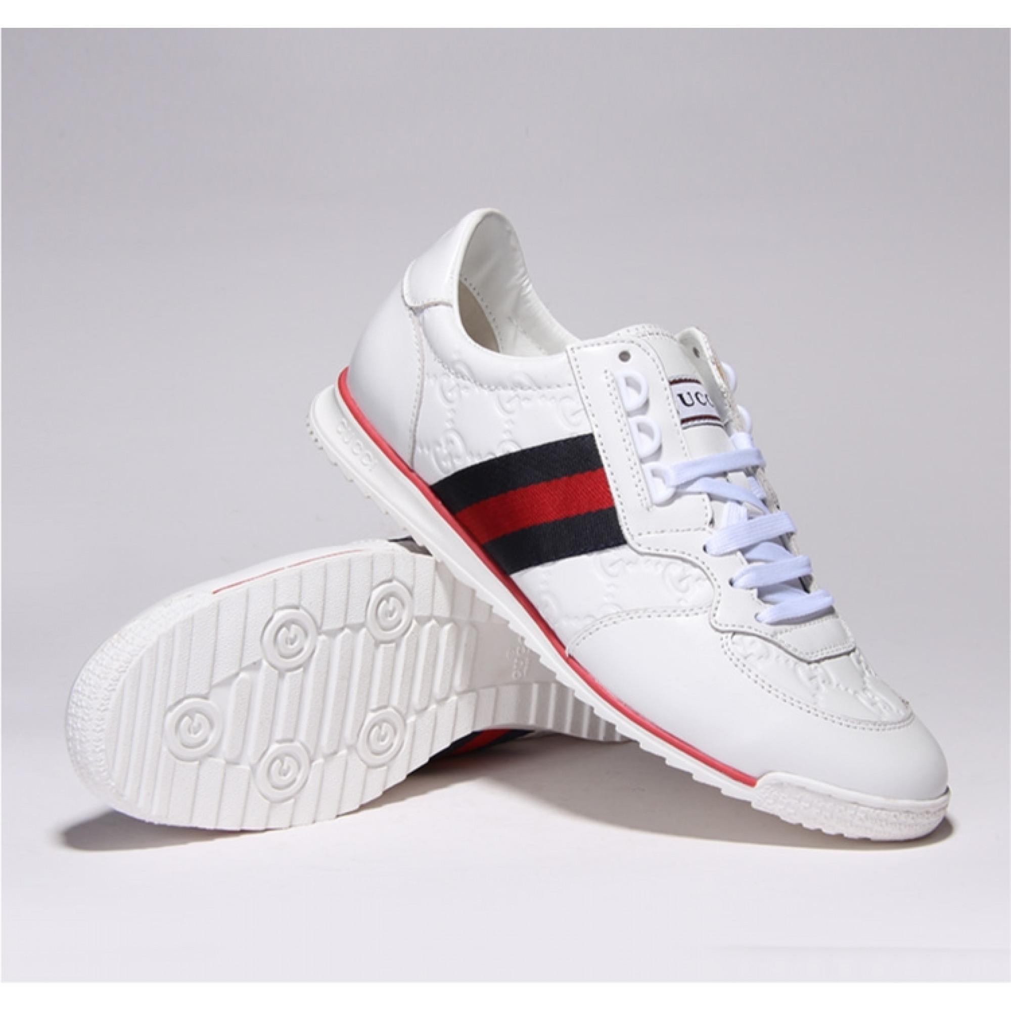 Купить белые мужские кроссовки Gucci — в Киеве, код товара 15390 fabdf31bbd2