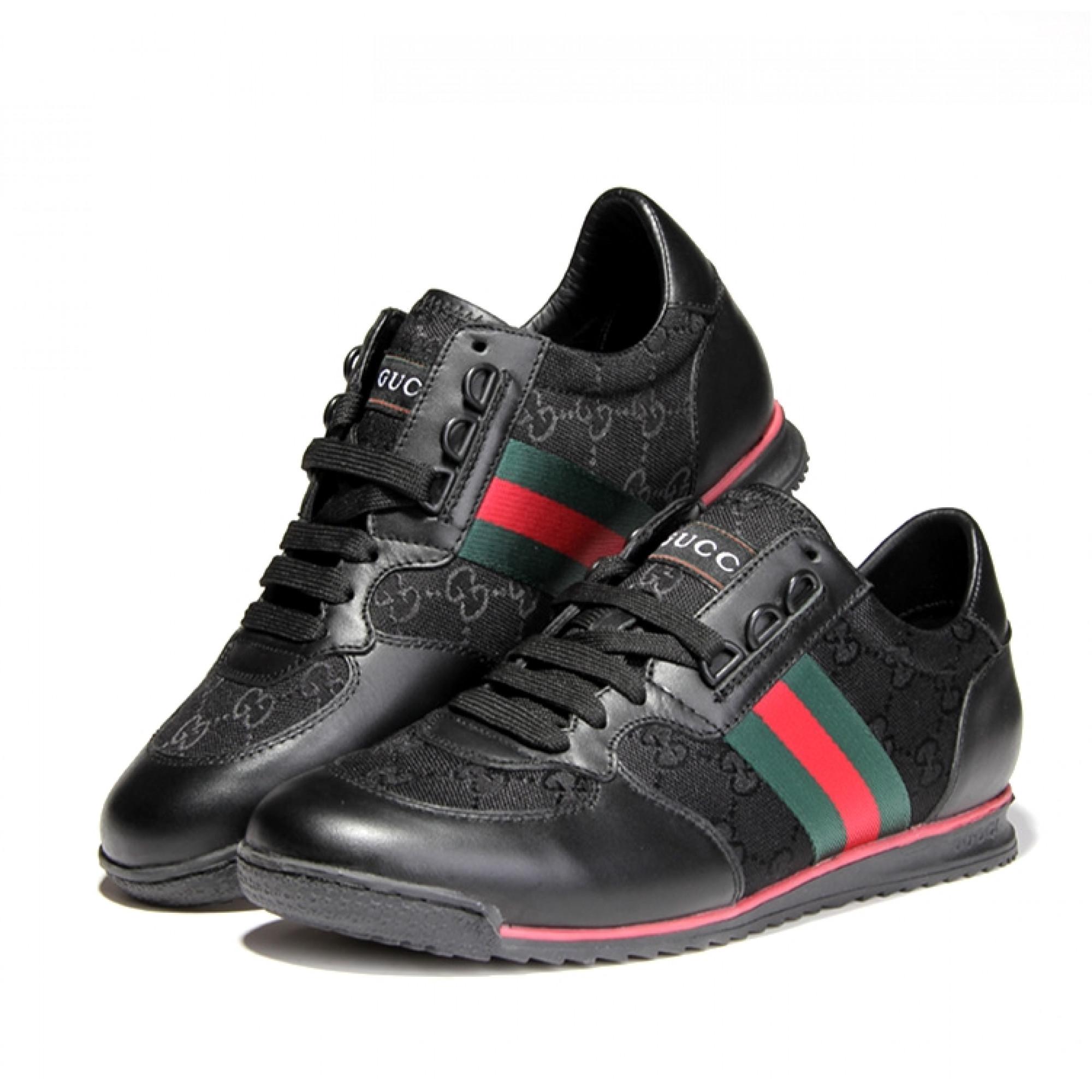 Купить черные мужские кроссовки Gucci — в Киеве, код товара 15389 fcc4906569e