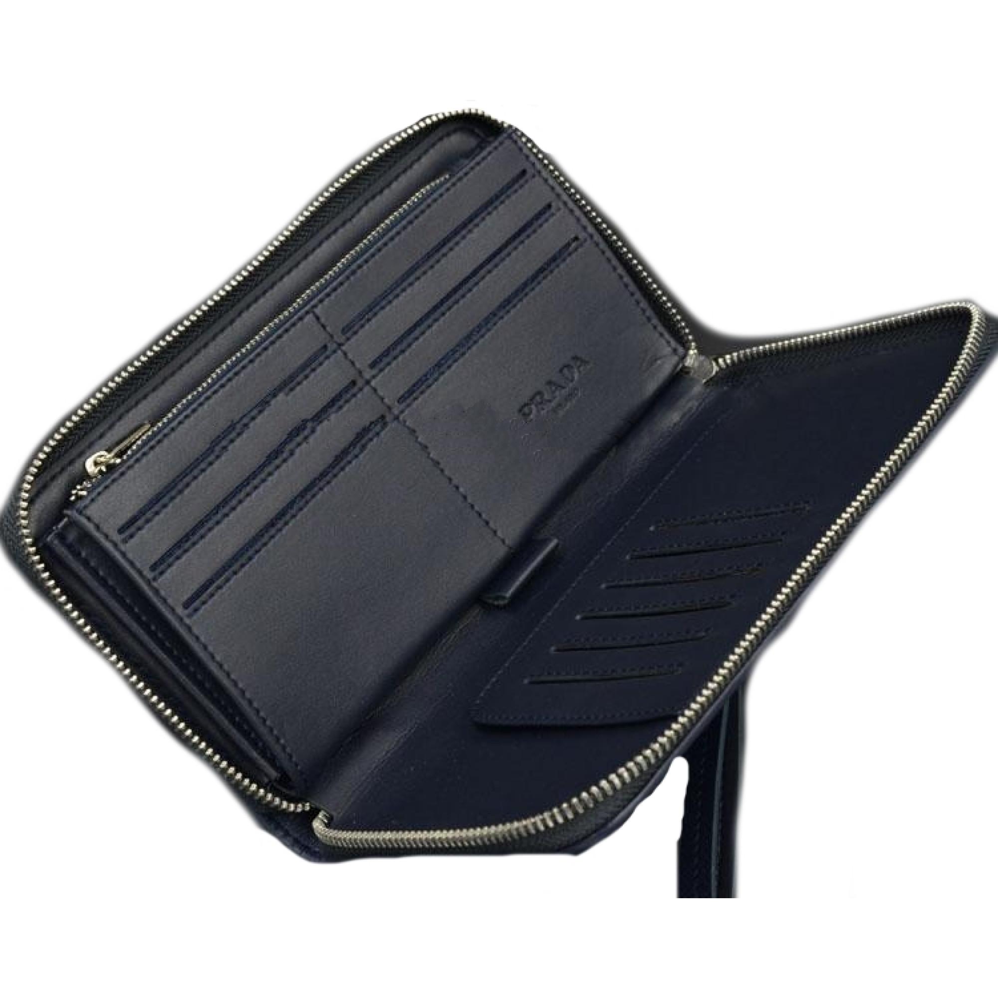 41d8b6a32f6e купить синий мужской кошелек Prada в киеве код товара 18055