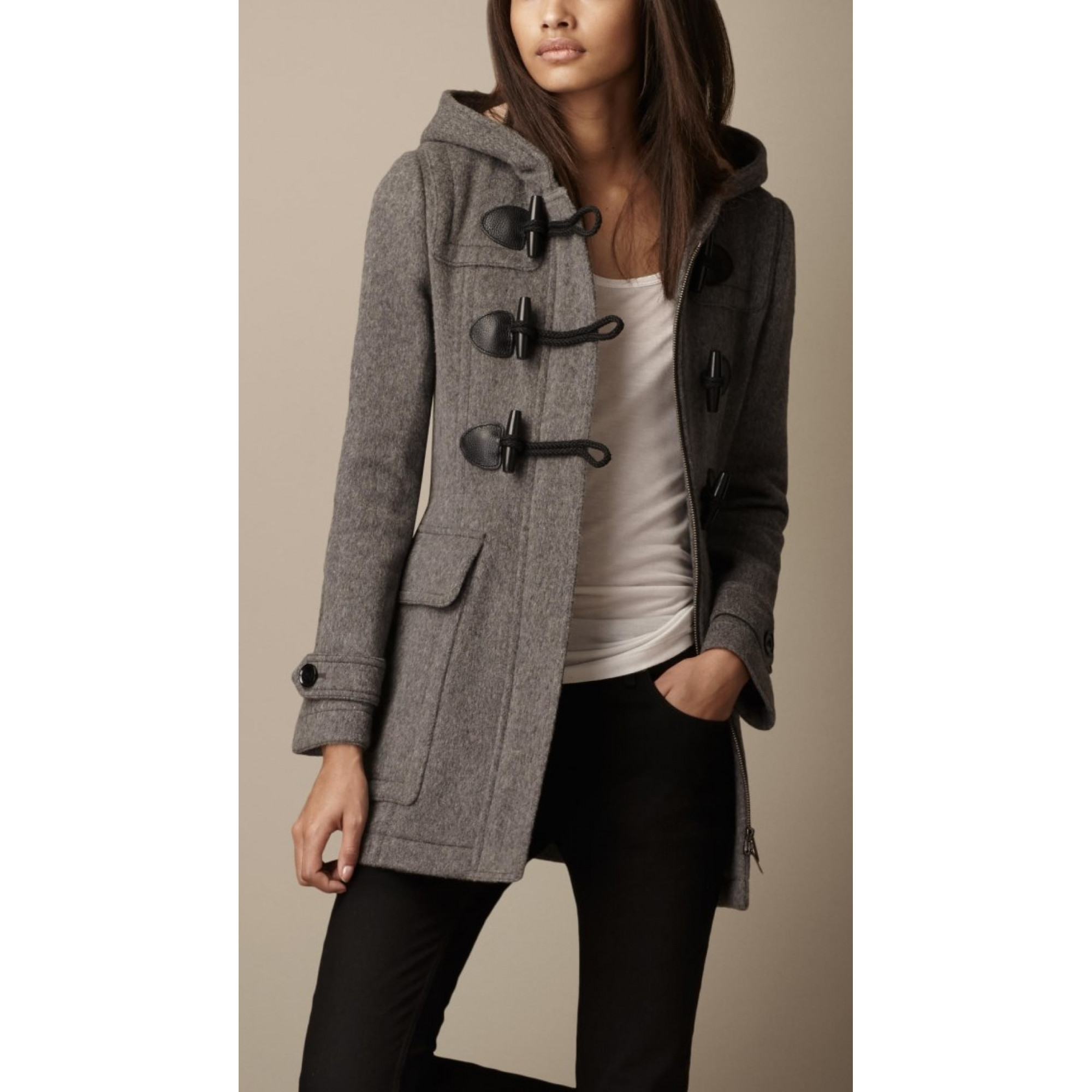 Купить женское пальто Burberry серого цвета — в Киеве, код товара 18059 c1f46c99d5d