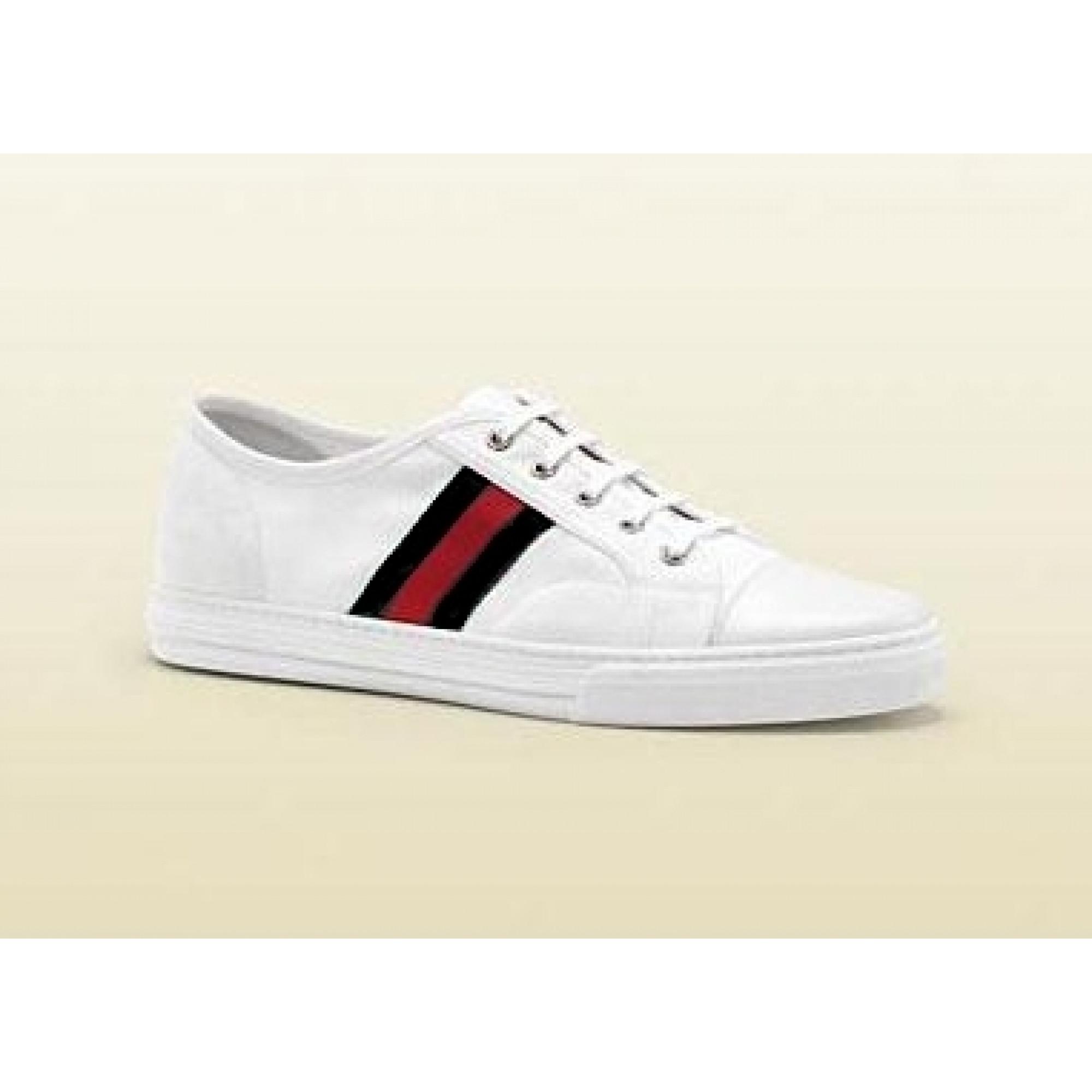 Купить белые мужские кроссовки Gucci на шнуровке — в Киеве, код ... fc080a3172e
