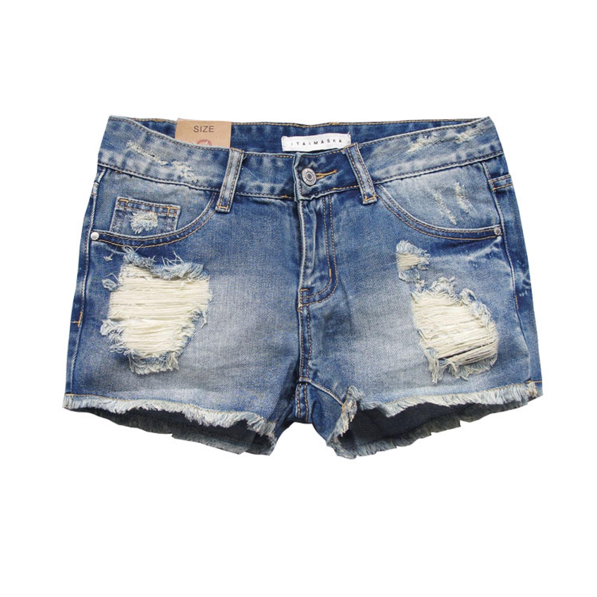 Дырки на шортах джинсовых