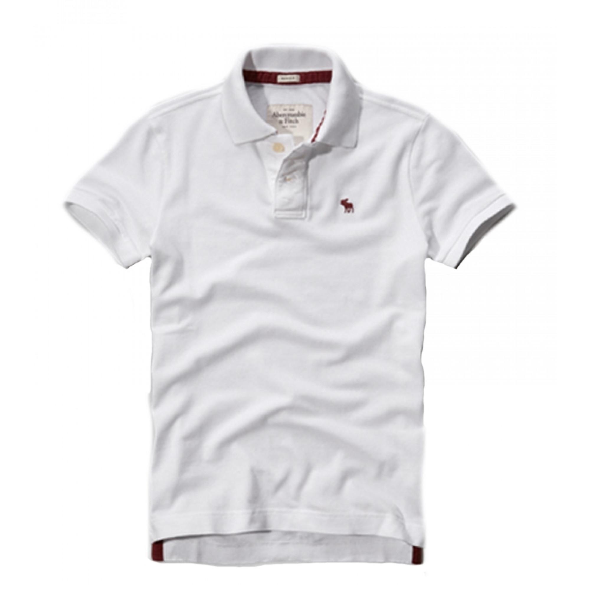 Белая футболка-поло A F с лосем d6ecb0034c7