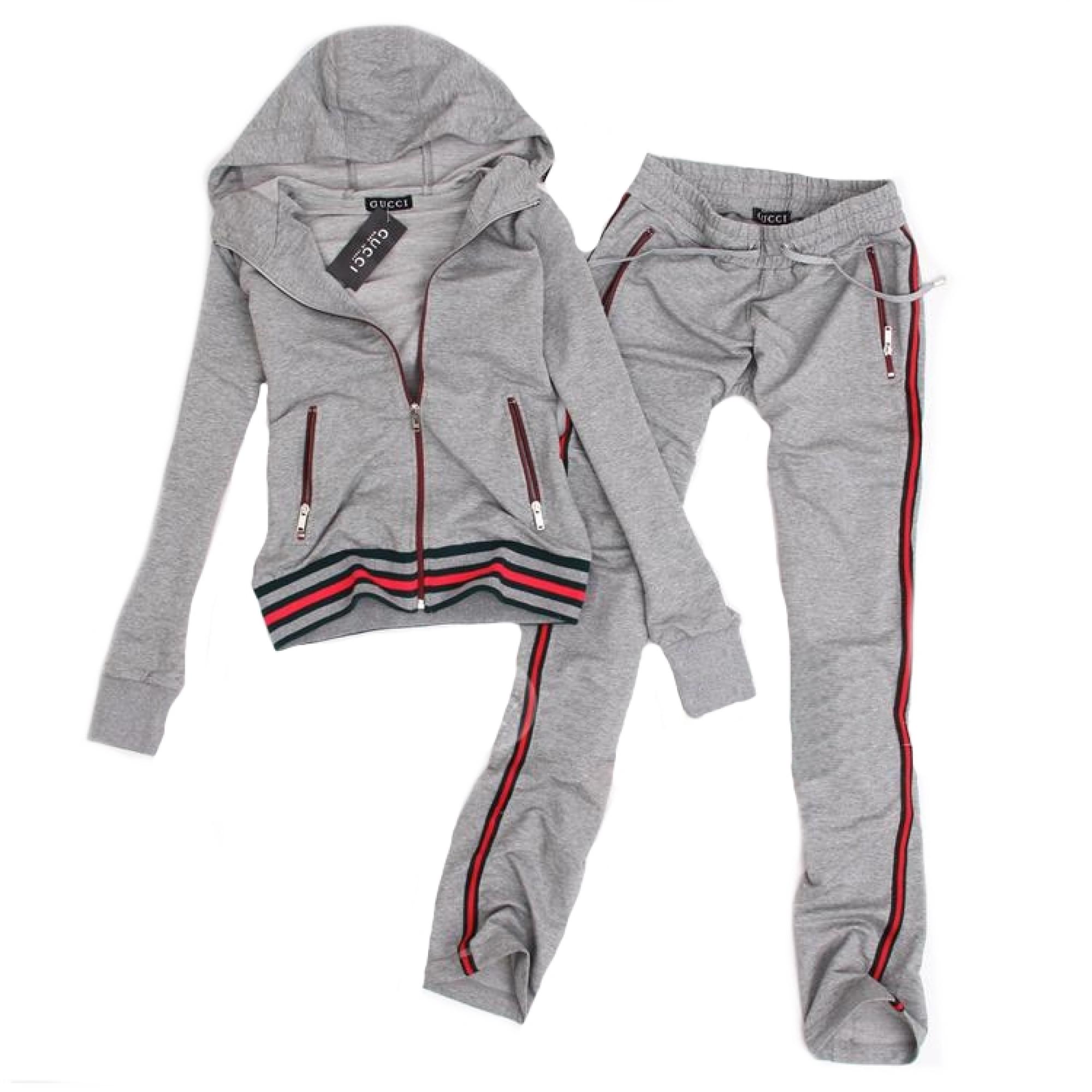 Купить женский спортивный костюм Gucci серого цвета — в Киеве 217db5952285b