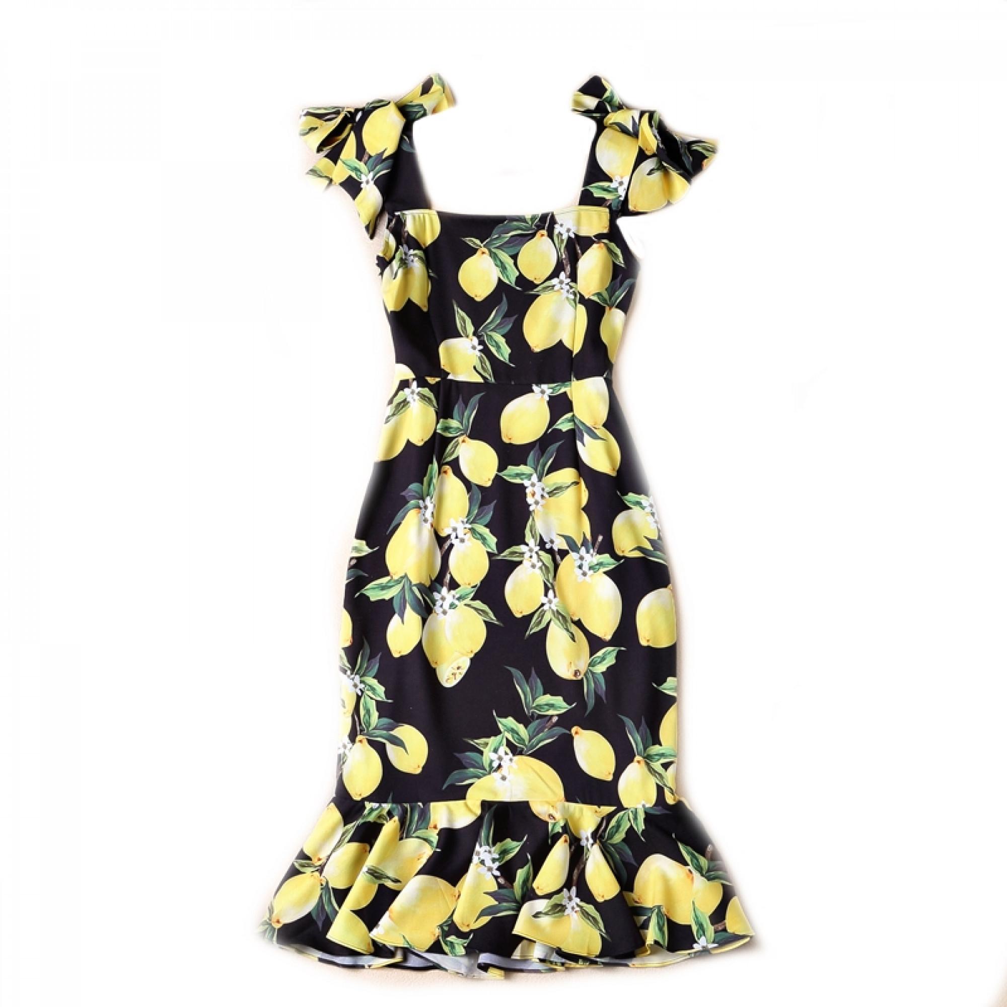 Платье dolce gabbana лимоны