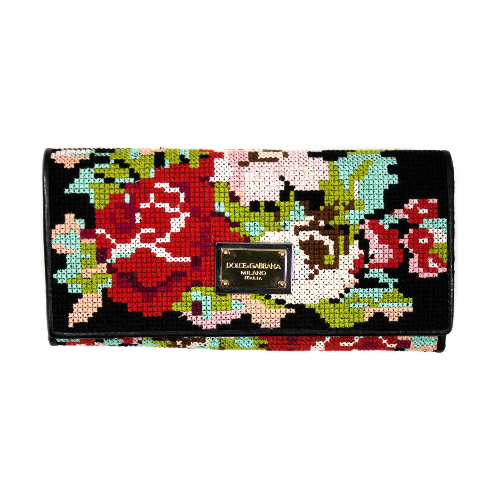Кошелек женский Dolce Gabbana 9701-J с вышивкой