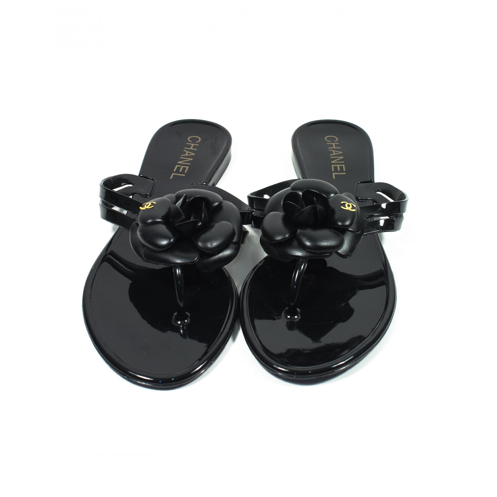 55a8d64b34d2 Купить вьетнамки Chanel в черном цвете — в Киеве, код товара 25400