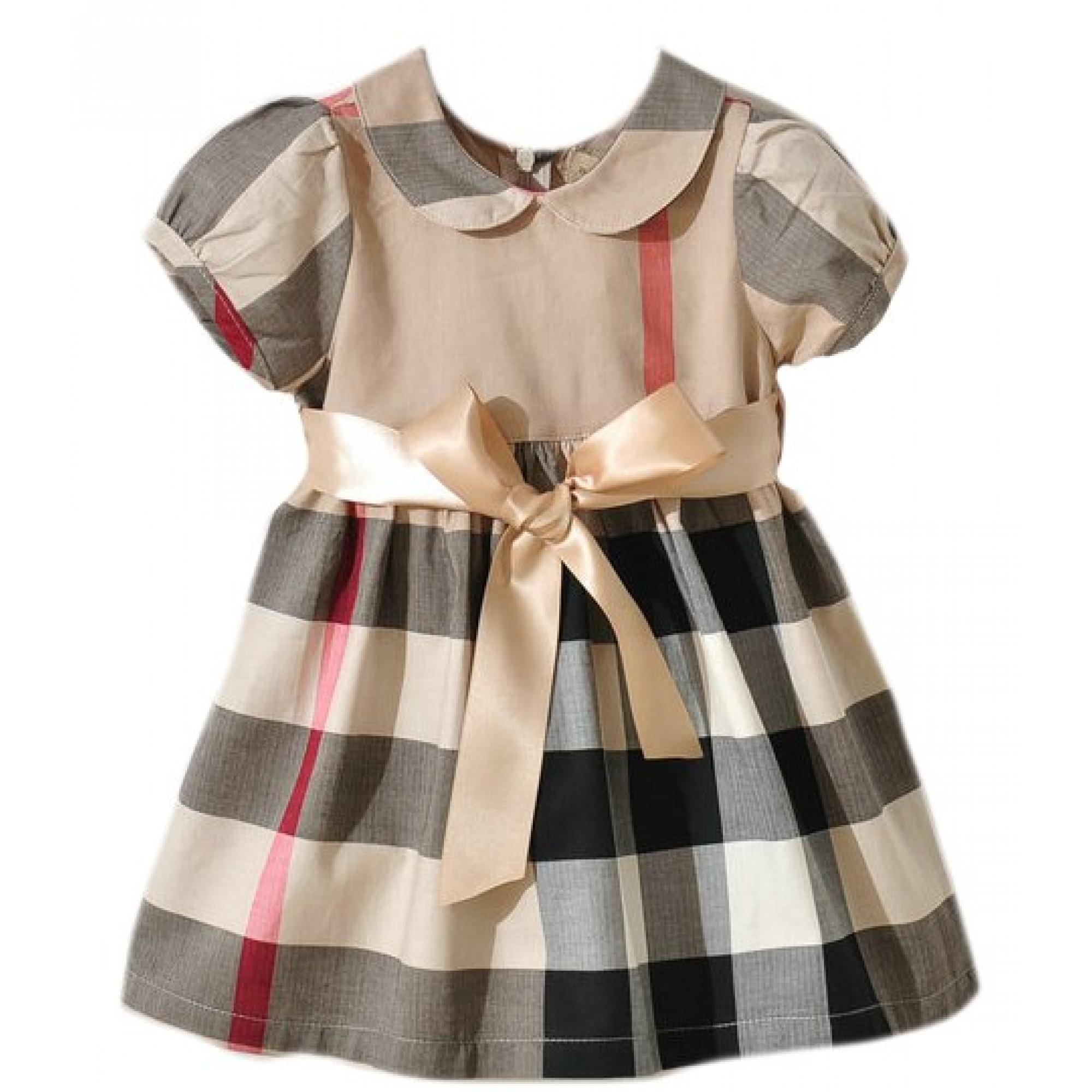 Купить детское платье Burberry в бежевую клетку — в Киеве, код ... e03641a2321