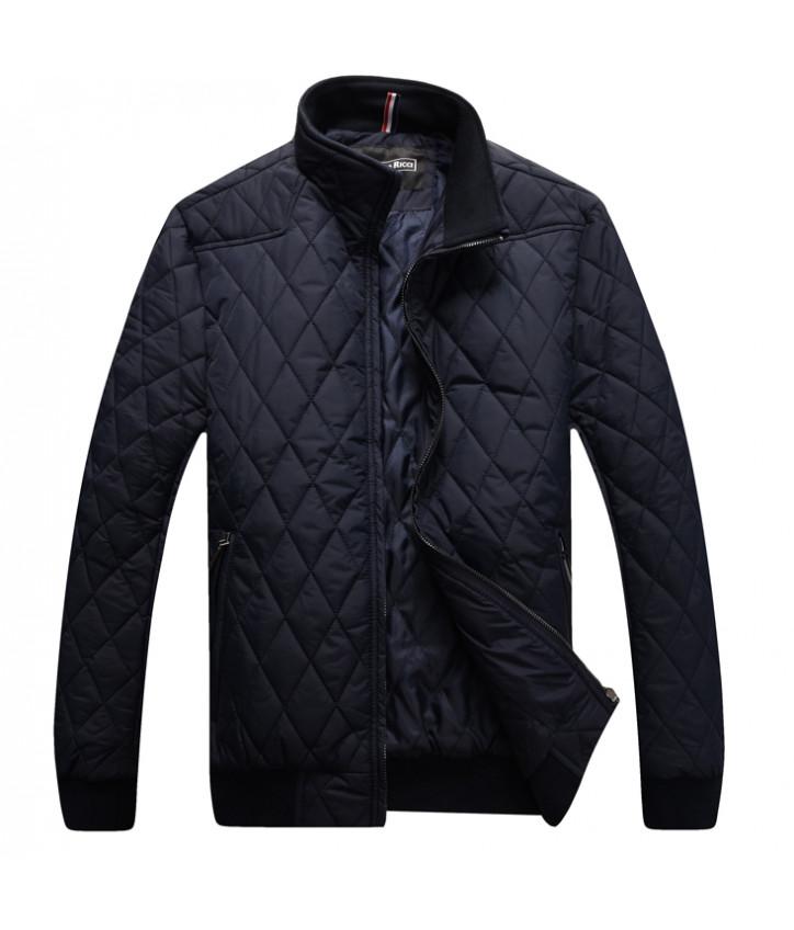 Купить синяя стеганая куртка на молнии от Stefano Ricci — в Киеве, код товара 28025