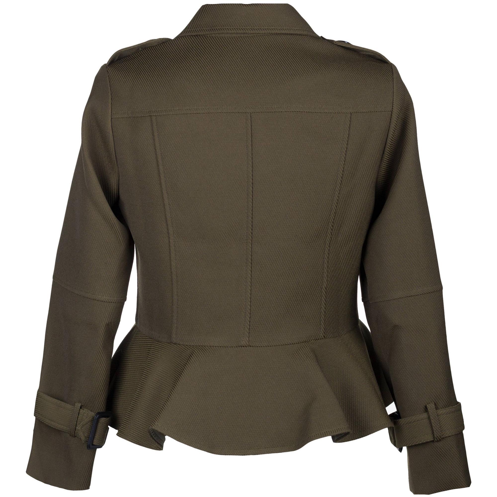 Пиджак Burberry цвета милитари  купить женские пиджаки и жакеты в ... 5b5e87685d1