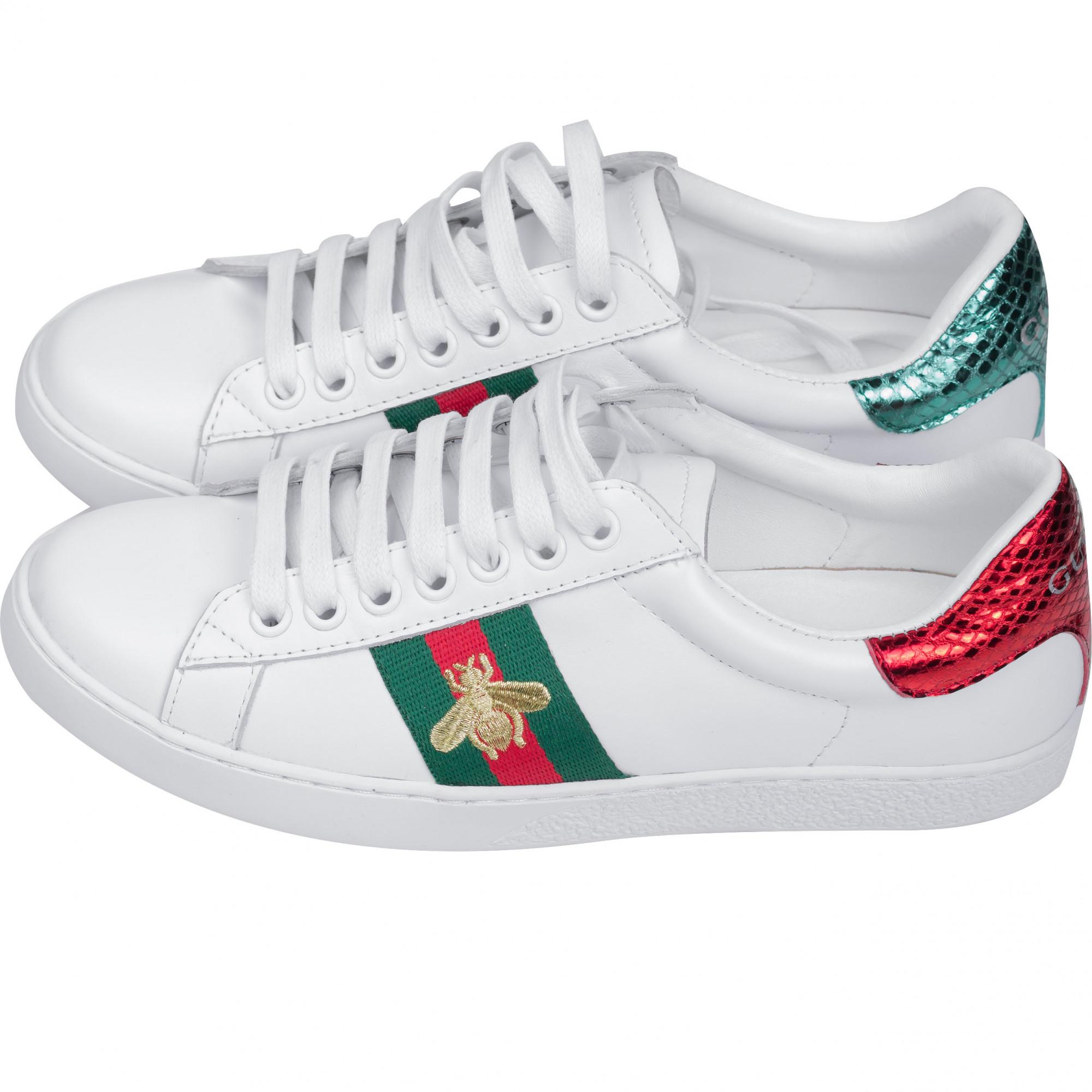 Купить женские кроссовки Gucci белого цвета — в Киеве, код товара 27998 37585cadca0