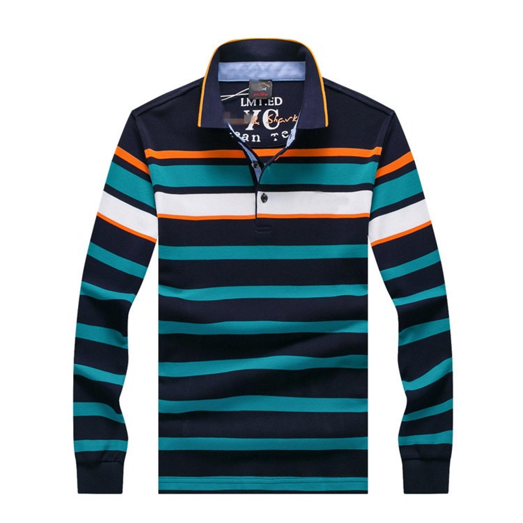 276da824bc71 Мужской лонгслив-поло Paul Shark в полоску: купить мужской свитер и ...