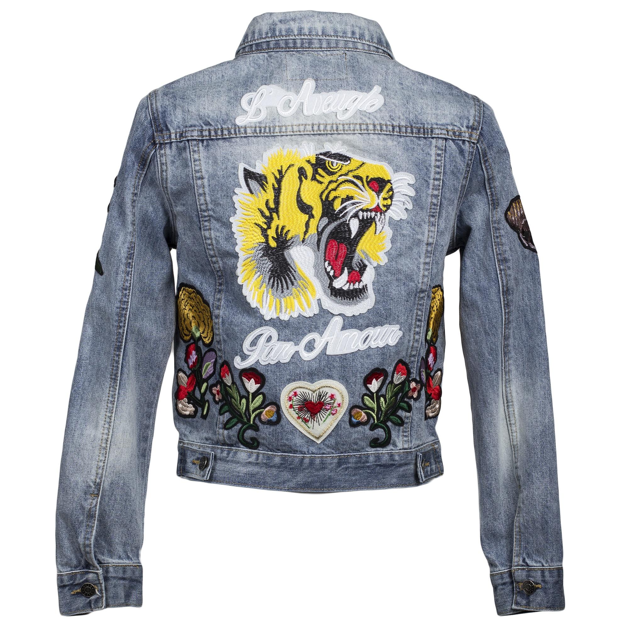 1332f3f50b3b Купить джинсовая куртка Gucci с тигром на спине — в Киеве, код ...