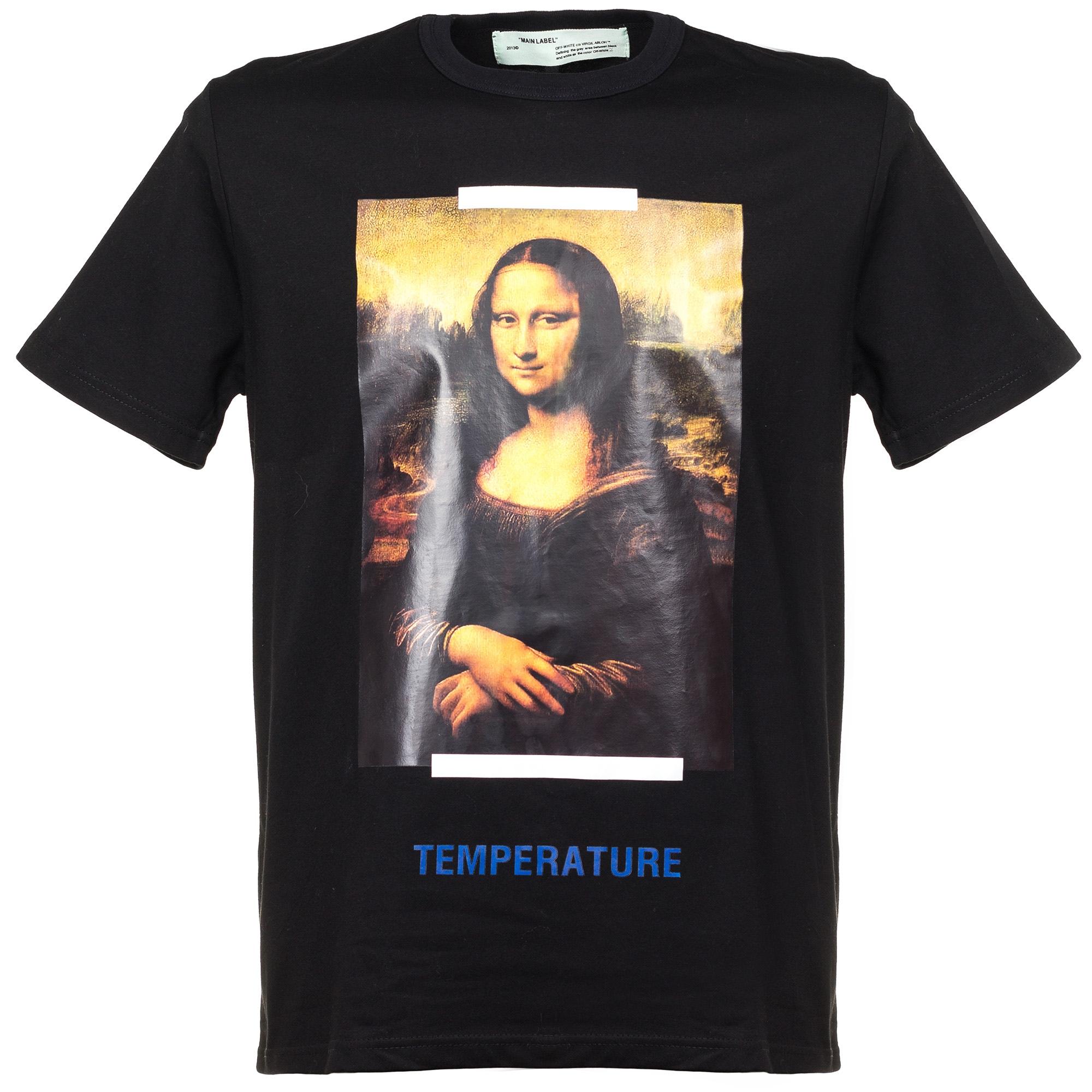 a51a65ec527ff Футболка «Мона Лиза» от Off-White: купить мужские футболки в ...