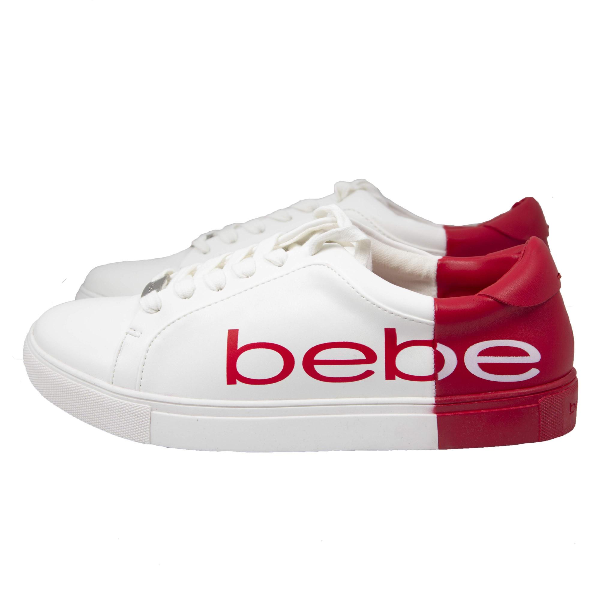 4fec2e94 Белые кеды Bebe с красными задниками: купить женские кроссовки и ...