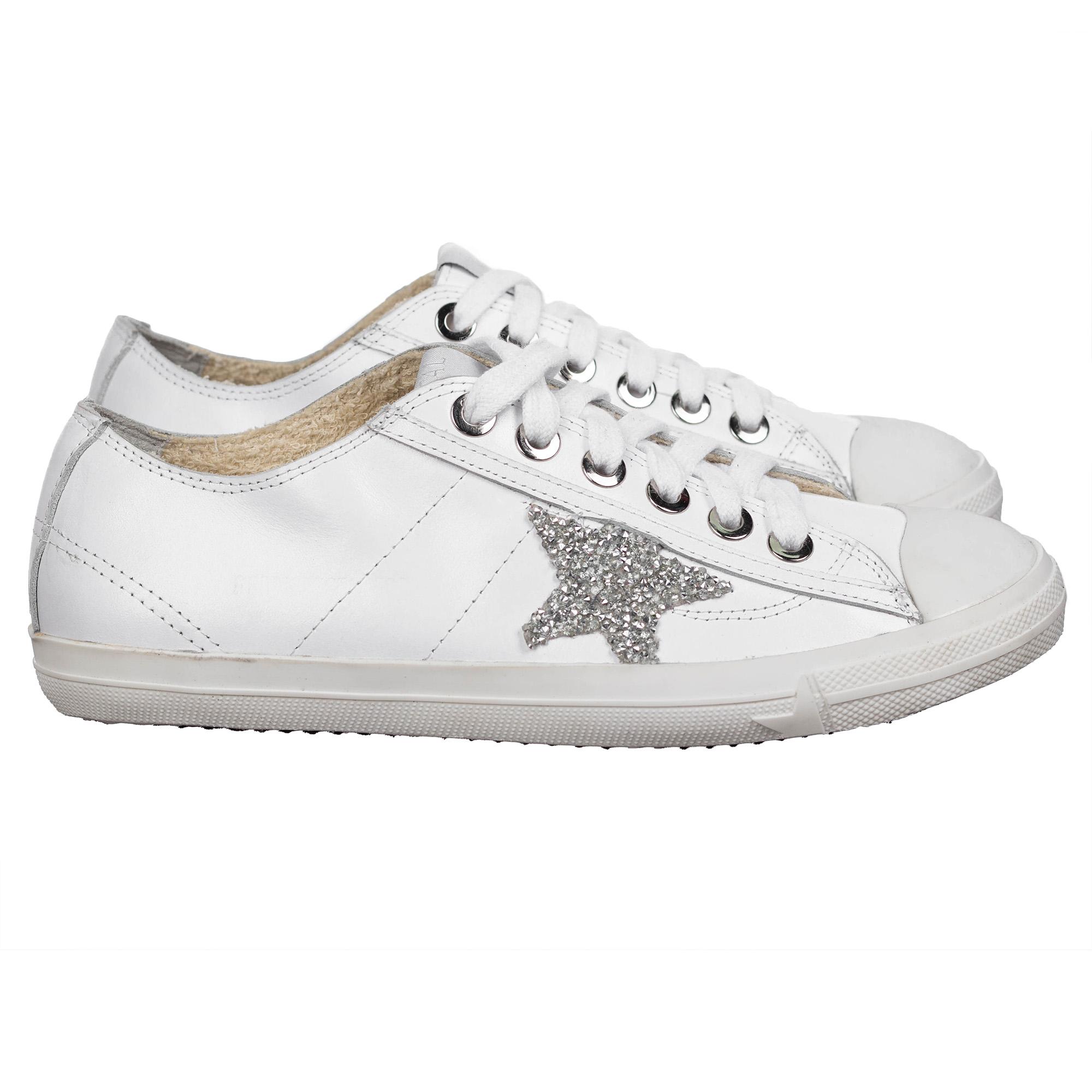 c5a467613b2a Белые кеды Golden Goose с серебряной звездой: купить женские ...