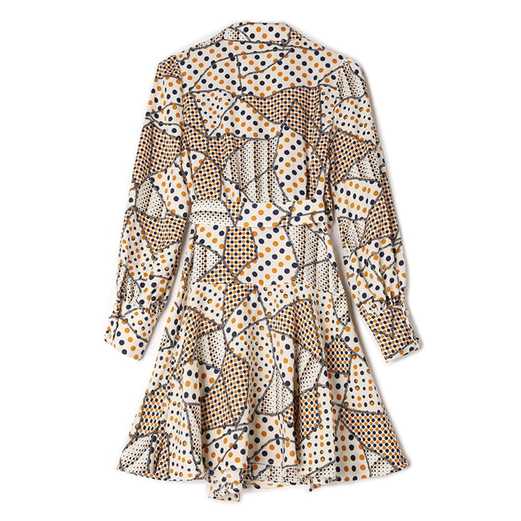 узорчатое платье с V образным вырезом купить женские платья