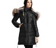 Черный пуховик-пальто Parajumpers