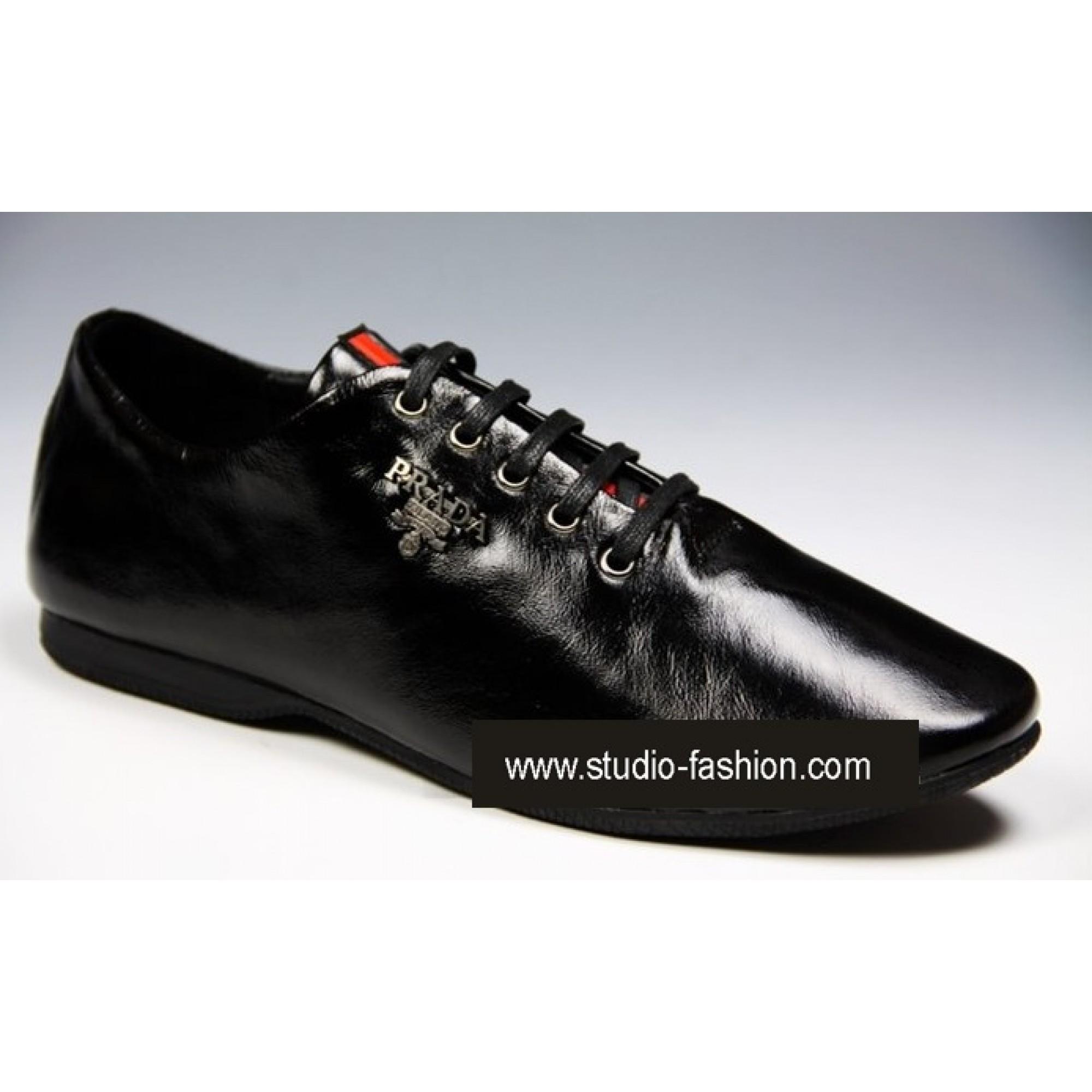 5ab1a68cb929 Купить черные классические кроссовки Prada — в Киеве, код товара 4021