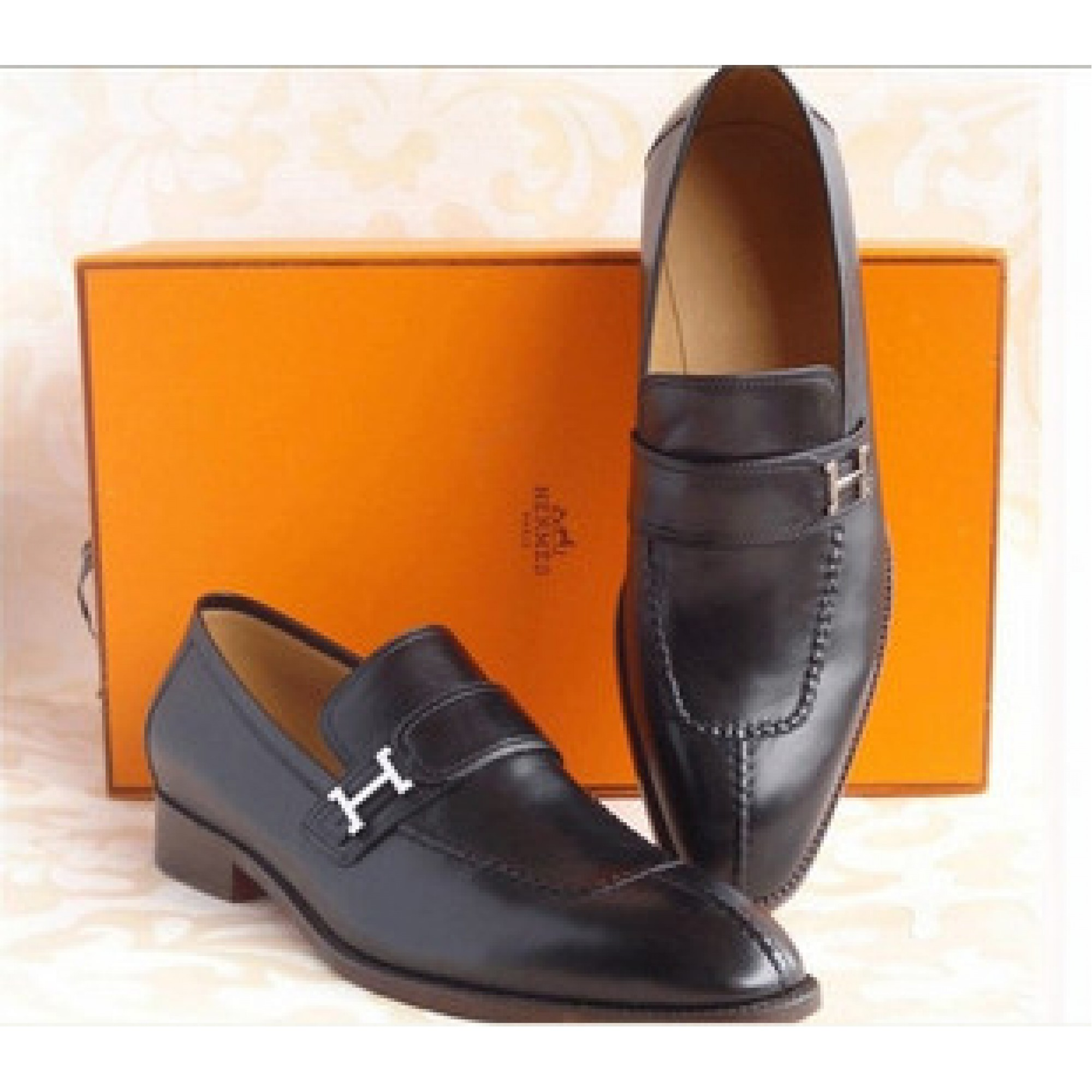 Купить черные туфли мужские Hermes — в Киеве, код товара 5539 b473cc66a9e